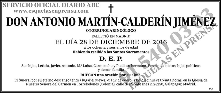 Antonio Martín-Calderín Jiménez